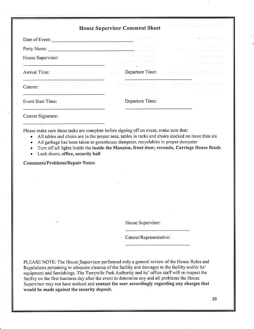 rental-packet-house-supervisor-comment-sheet