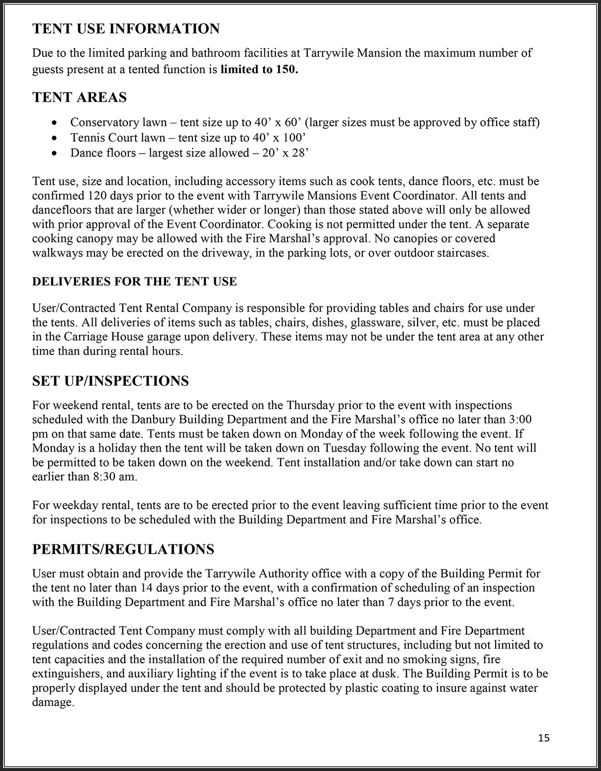 Tent Use Information pg 15