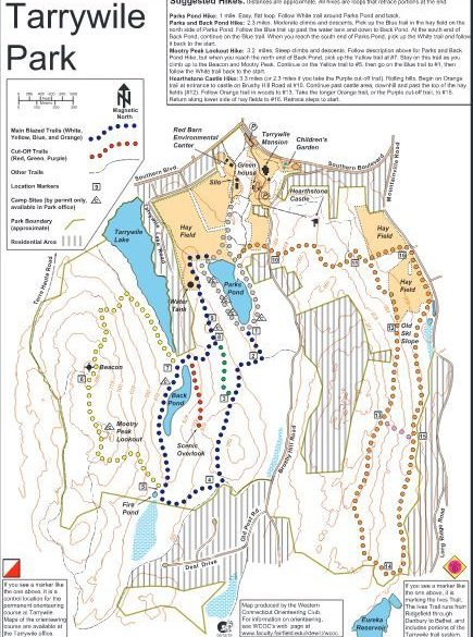 picture of tarrywile park trail map