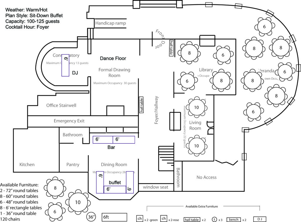 Sample Floor Plans Weddings Events Park