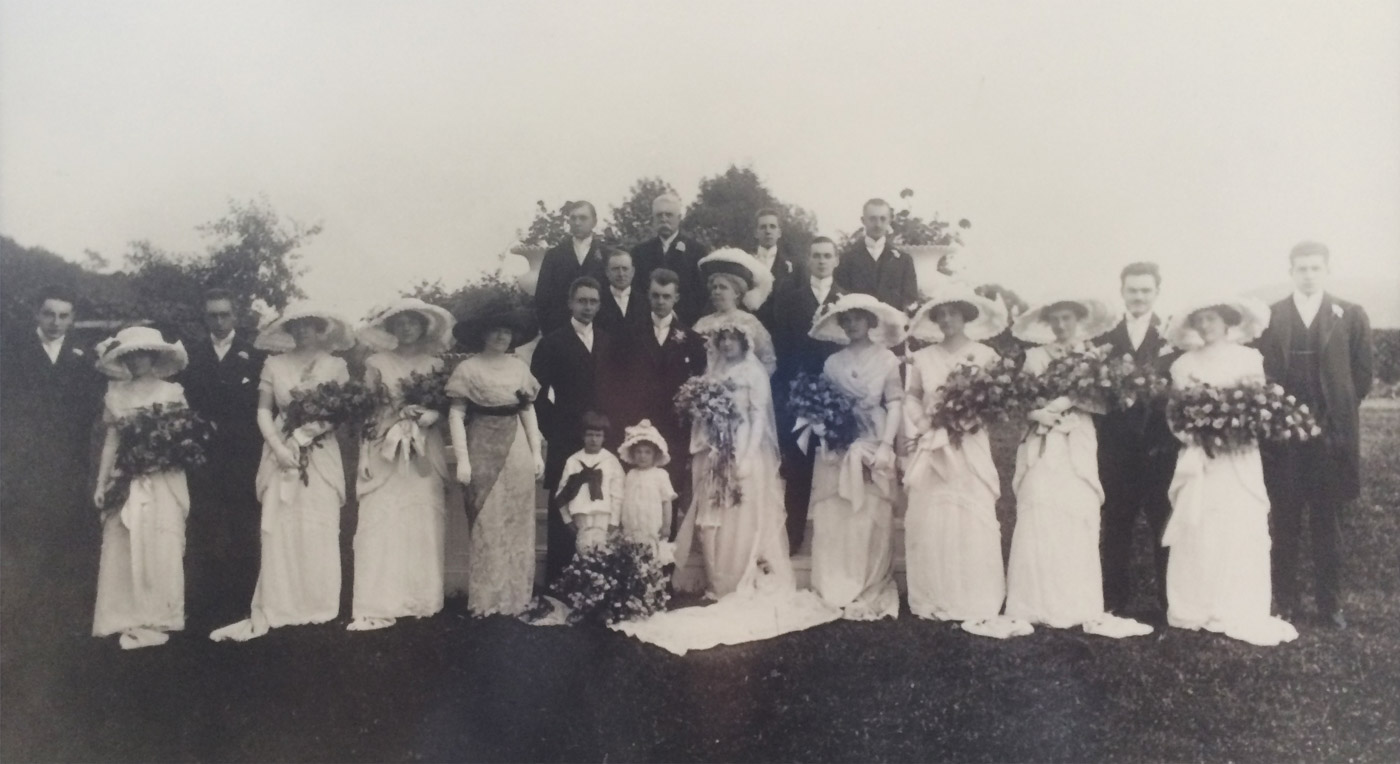 Parks/Rathmell wedding party photo