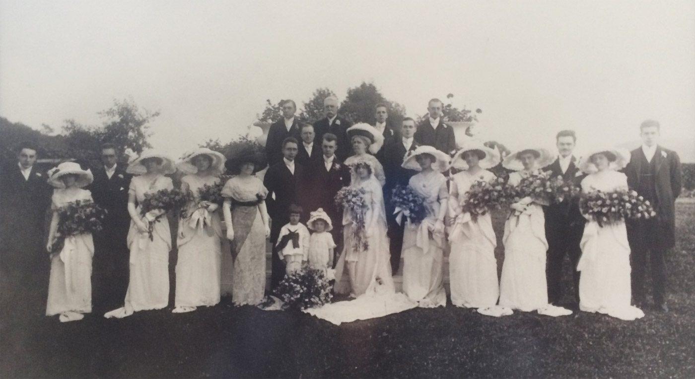 Parks/Rathmell wedding party photo