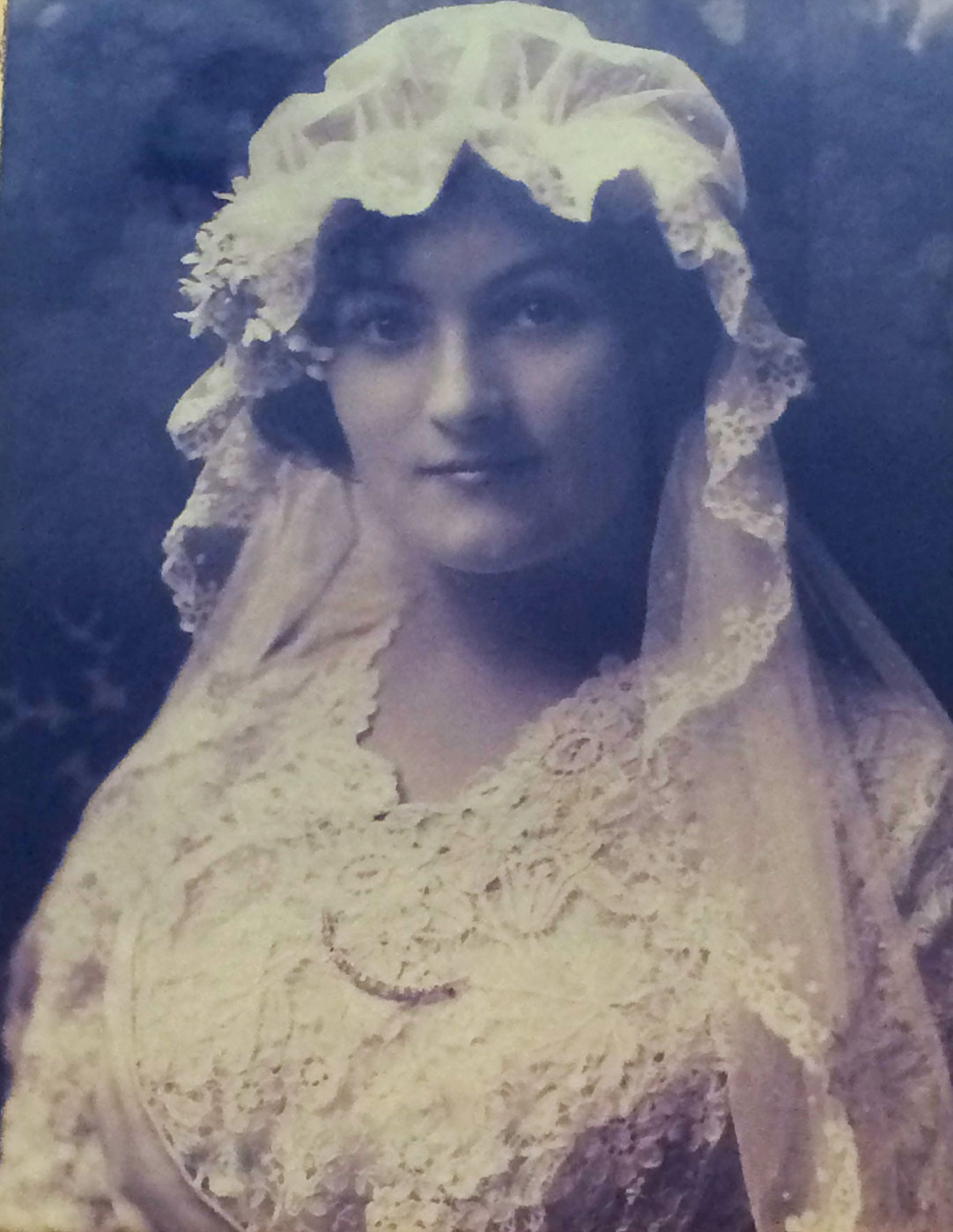 Irene Parks on her wedding day