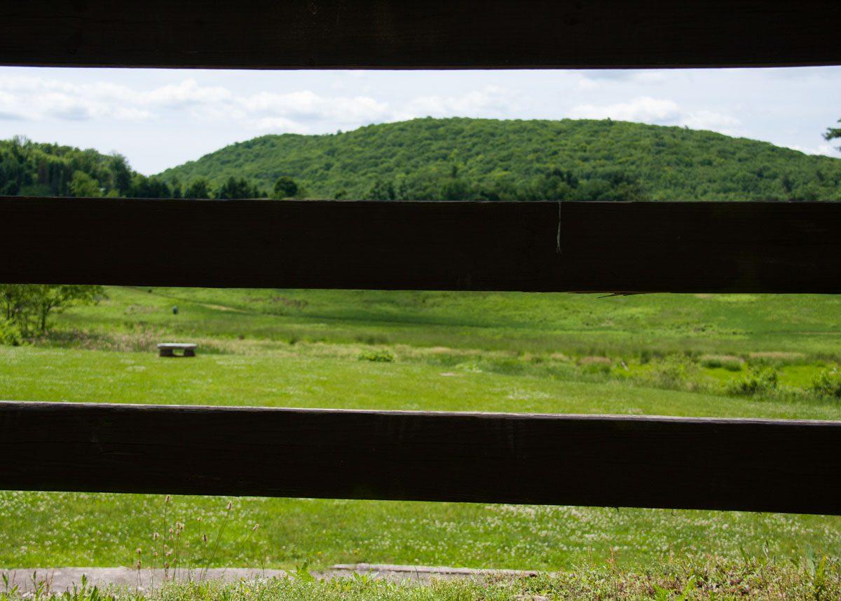 hayfields-through-red-barn-fence