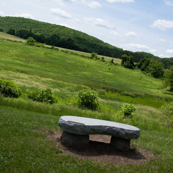 memorial-bench-overlooking-hay-fields