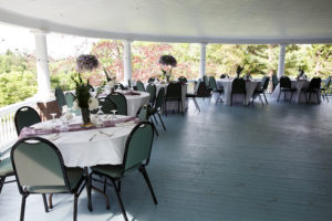 Guest Dining out doors on our sweeping veranda