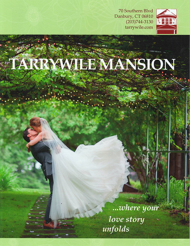 brochure-cover-with-groom-kissing-bride-under-grape-arbor