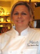 monica in chefs jacket