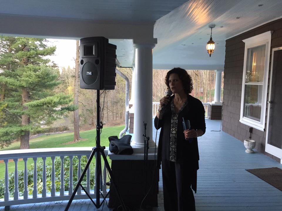 guest speech on veranda