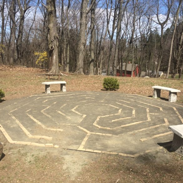 Sandy Moy Memorial Labyrinth missing a few bricks