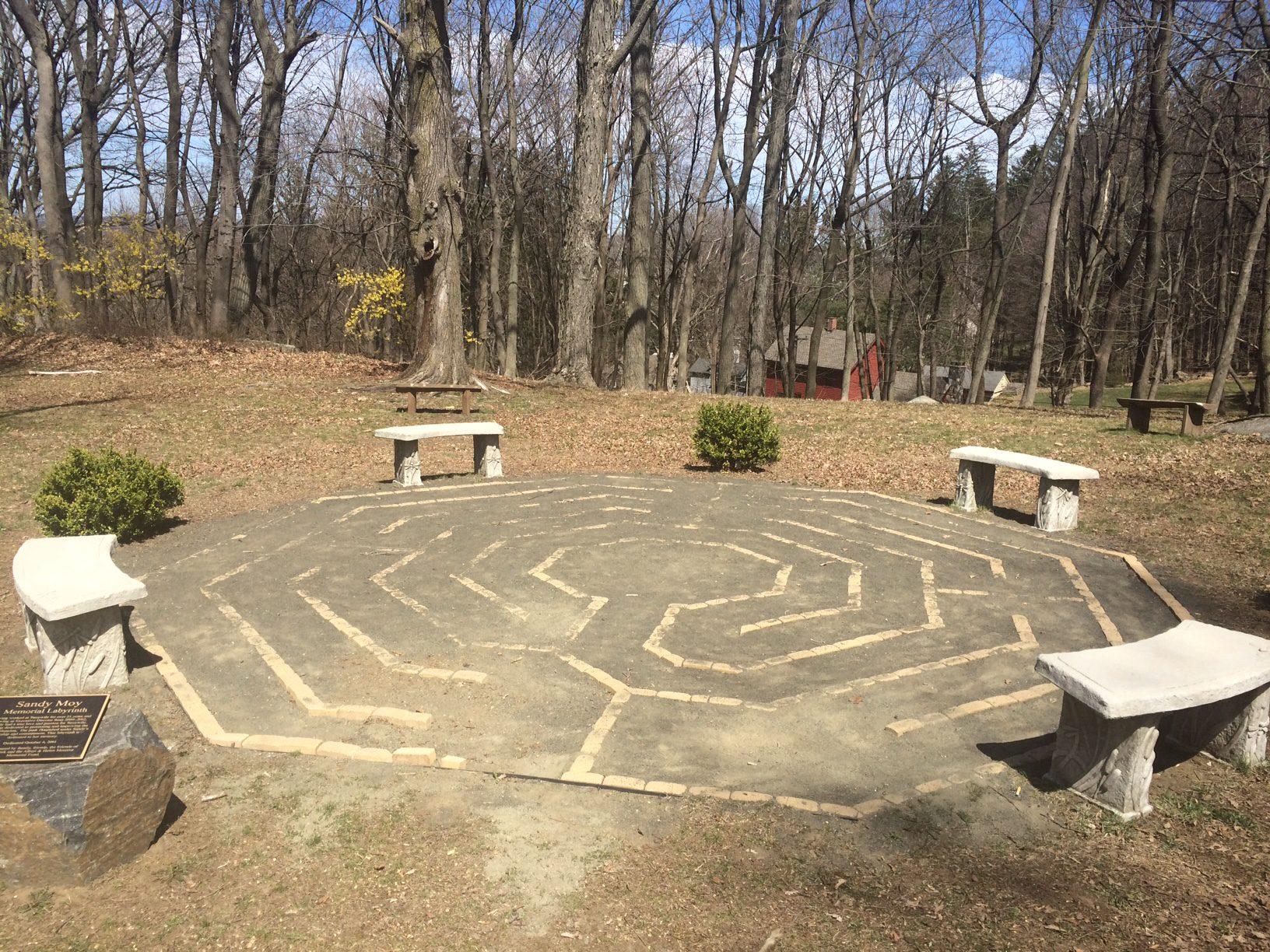 Sandy Moy Memorial Labyrinth missing a few bricks