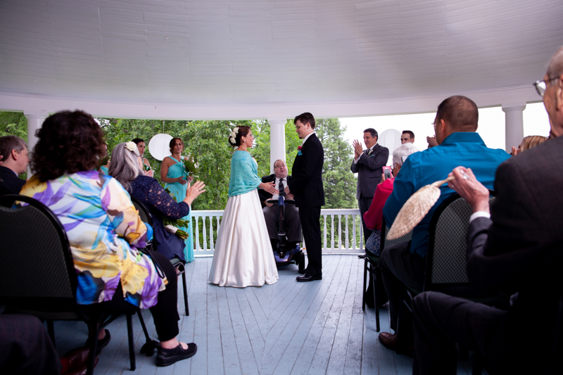 guests clapping as vows complete