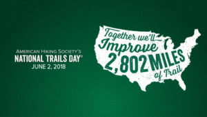 grapic image of usa map and 2802 miles of trail