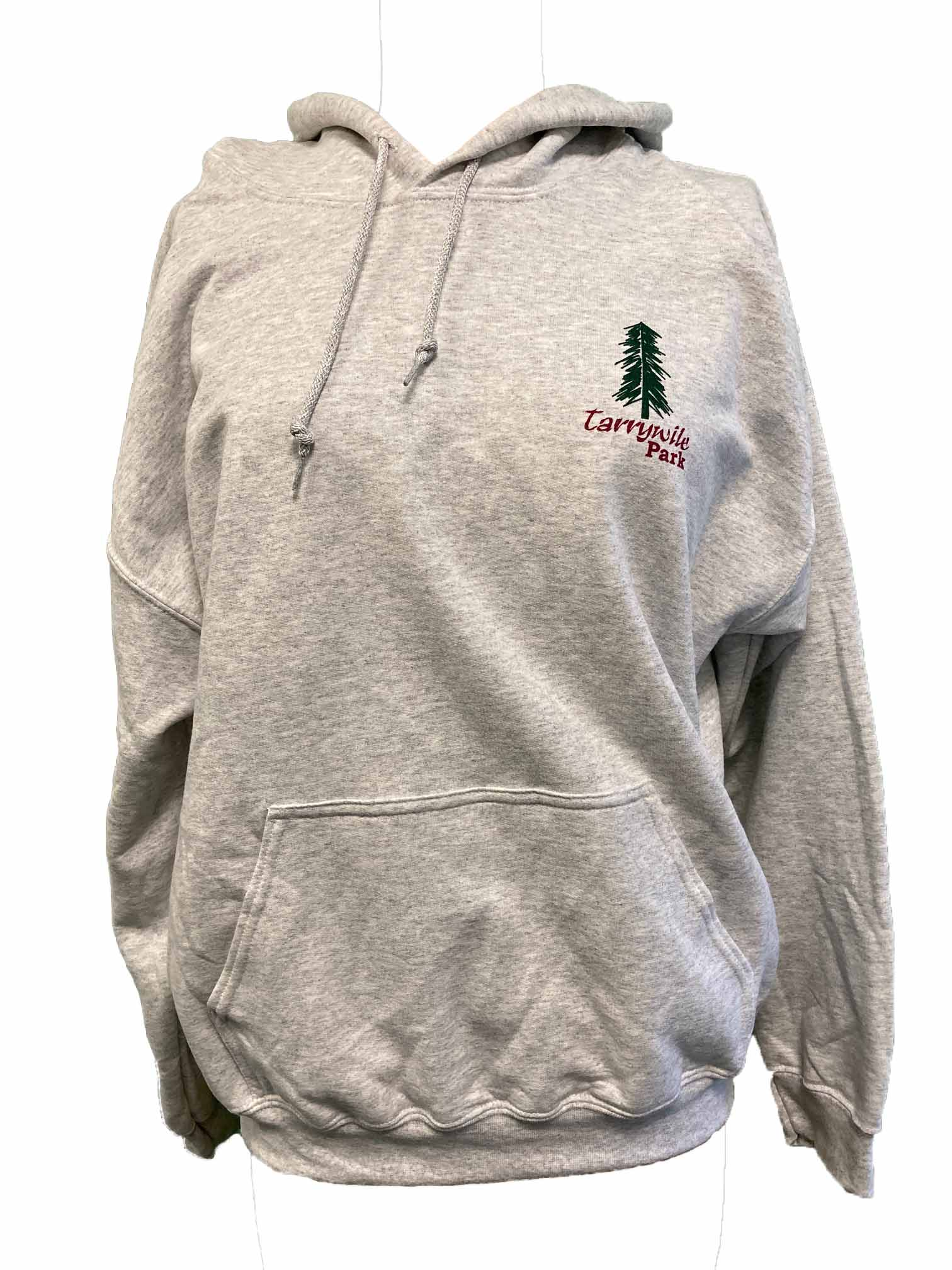 tarrywile park hooded sweatshirt with tree logo