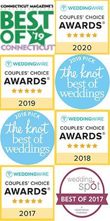 best of weddings award badges