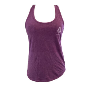 raspberry colored t-shirt with white tarrywile park logo