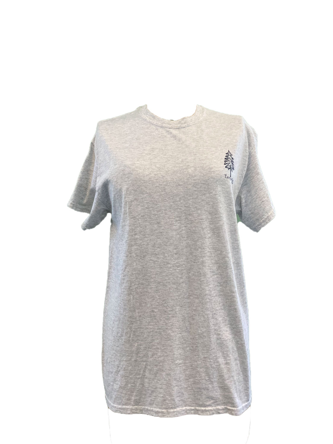 grey t-shirt with evergreen and tarrywile park