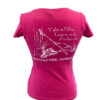 berry colored t-shirt with white tarrywile park leave only foot prints