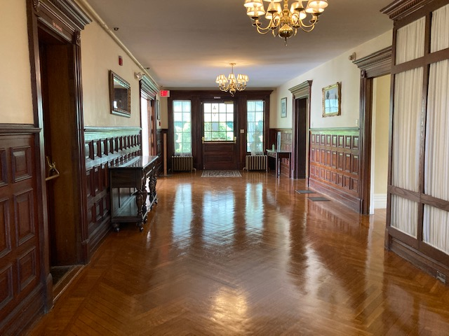 foyer floor refinished